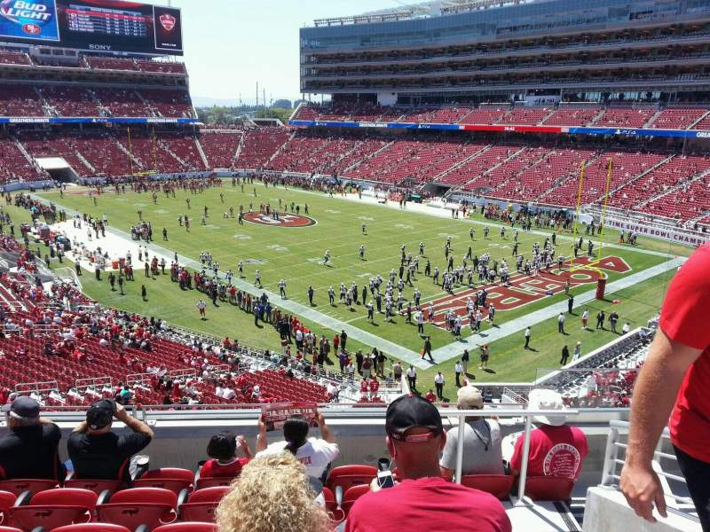Seating view for Levi's Stadium Section 208 Row 6 Seat 5