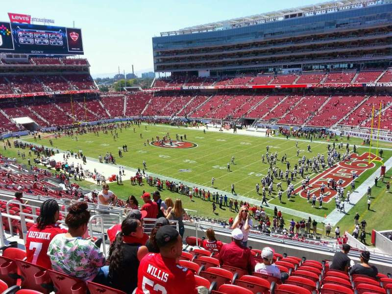 Seating view for Levi's Stadium Section 209 Row 11 Seat 18