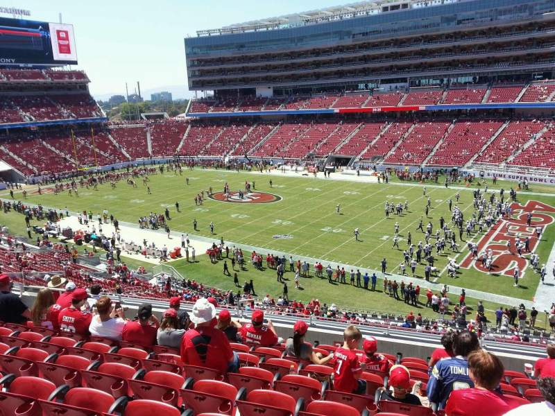 Seating view for Levi's Stadium Section 210 Row 10 Seat 11