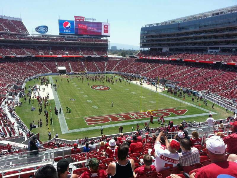 Seating view for Levi's Stadium Section 205 Row 14 Seat 13