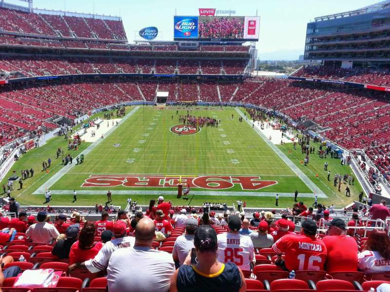 Seating view for Levi's Stadium Section 203 Row 19 Seat 11