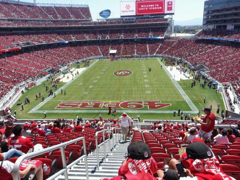 Seating view for Levi's Stadium Section 202 Row 21 Seat 22