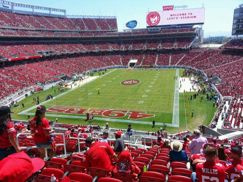 Seating view for Levi's Stadium Section 201 Row 17 Seat 29