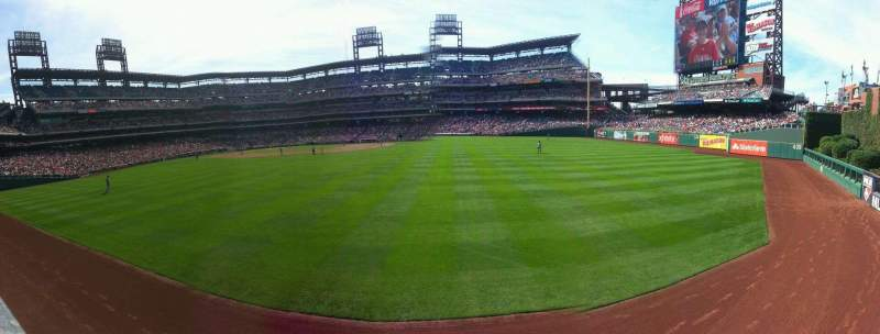 Seating view for Citizens Bank Park Section 102 Row 1 Seat 2