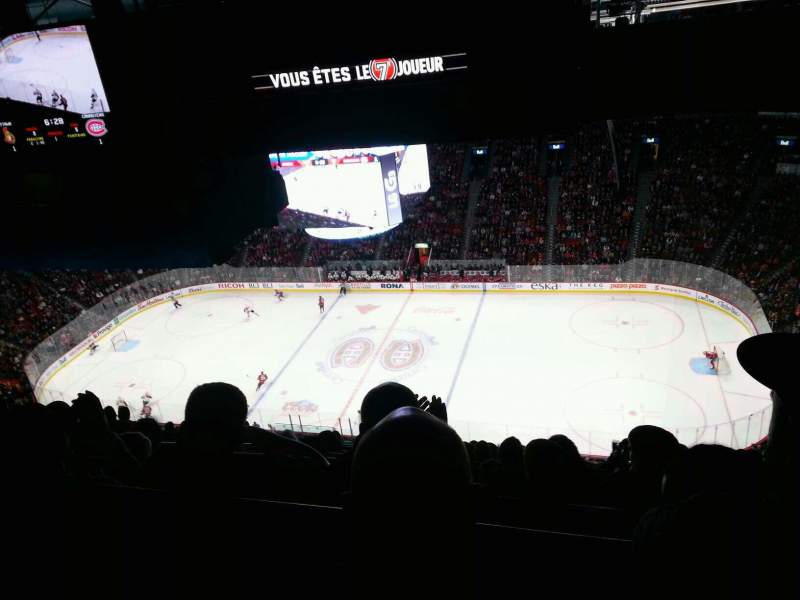 Seating view for Centre Bell Section 417 Row b Seat 7