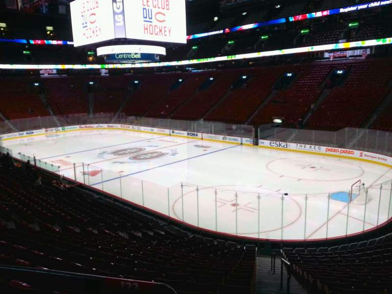 Seating view for Centre Bell Section 122 Row m Seat 1