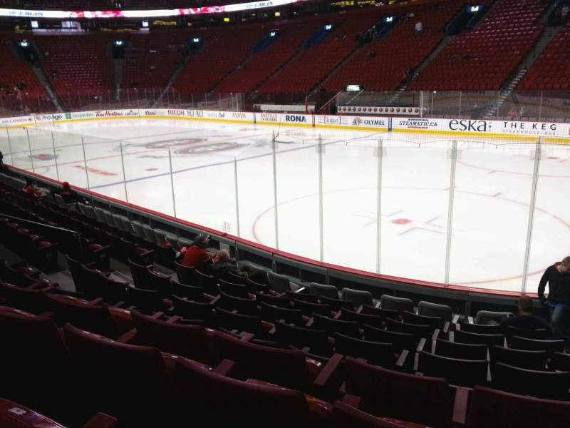 Seating view for Centre Bell Section 110 Row d Seat 4