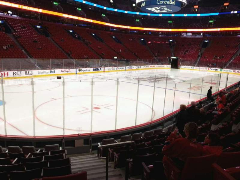 Seating view for Centre Bell Section 105 Row d Seat 1