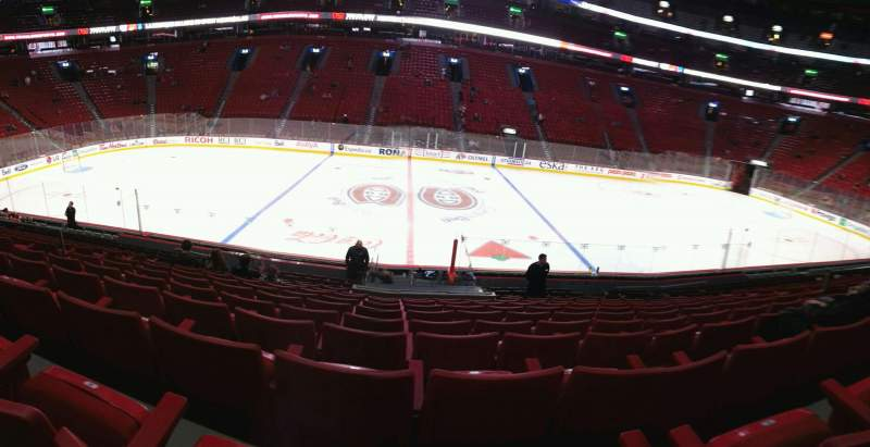 Seating view for Centre Bell Section 101 Row k Seat 10