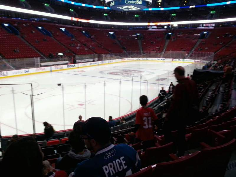 Seating view for Centre Bell Section 117 Row f Seat 4