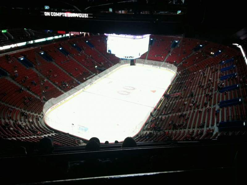 Seating view for Centre Bell Section 408 Row b Seat 7