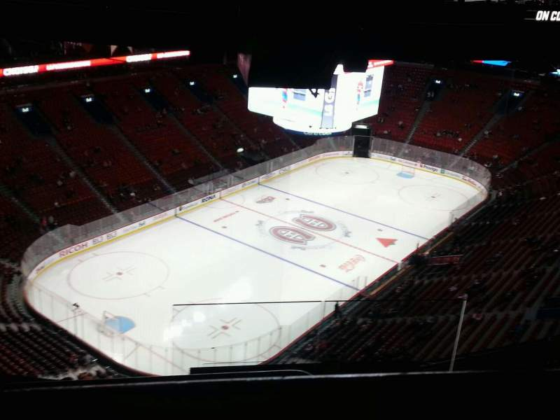 Seating view for Centre Bell Section 407 Row b Seat 1