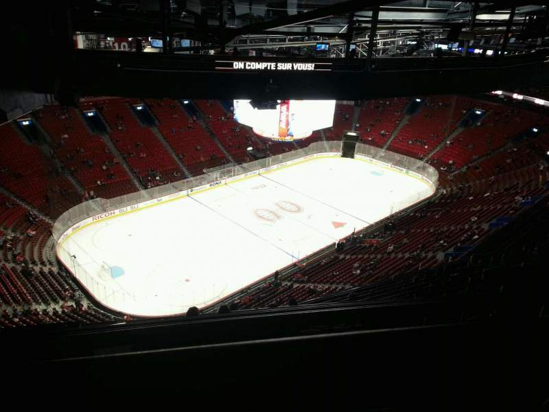 Seating view for Centre Bell Section 405 Row d Seat 18