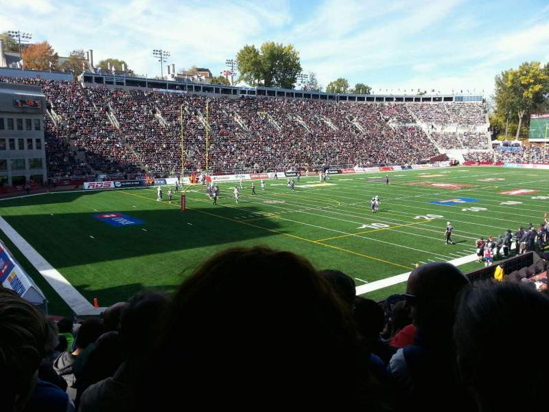 Seating view for Percival Molson Memorial Stadium Section Z1 Row 15 Seat 13