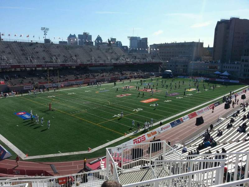 Seating view for Percival Molson Memorial Stadium Section m2 Row 8 Seat 6