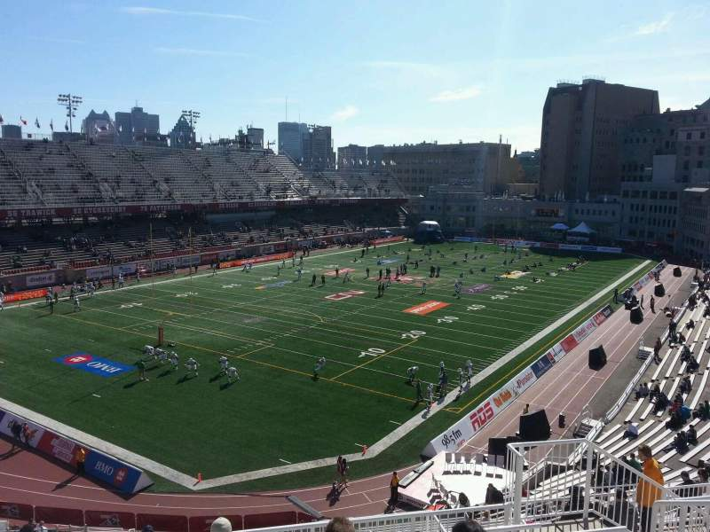 Seating view for Percival Molson Memorial Stadium Section n2 Row 8 Seat 8