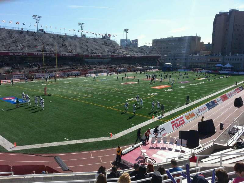 Seating view for Percival Molson Memorial Stadium Section m1 Row 9 Seat 9