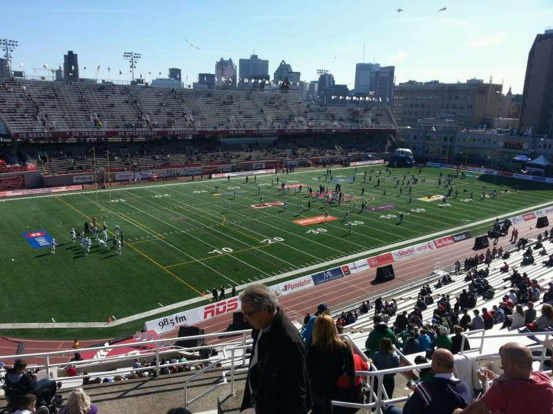 Seating view for Percival Molson Memorial Stadium Section l2 Row 8 Seat 3