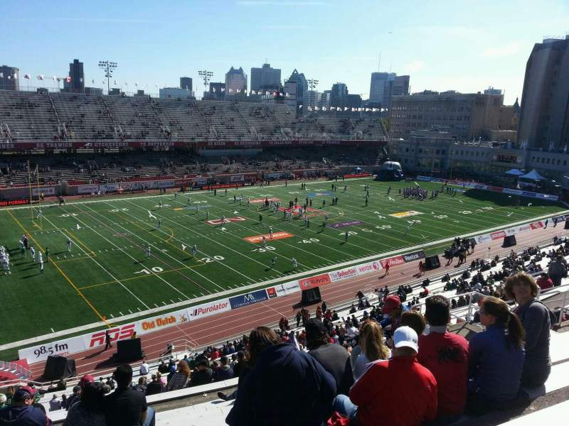 Seating view for Percival Molson Memorial Stadium Section k2 Row 10 Seat 18