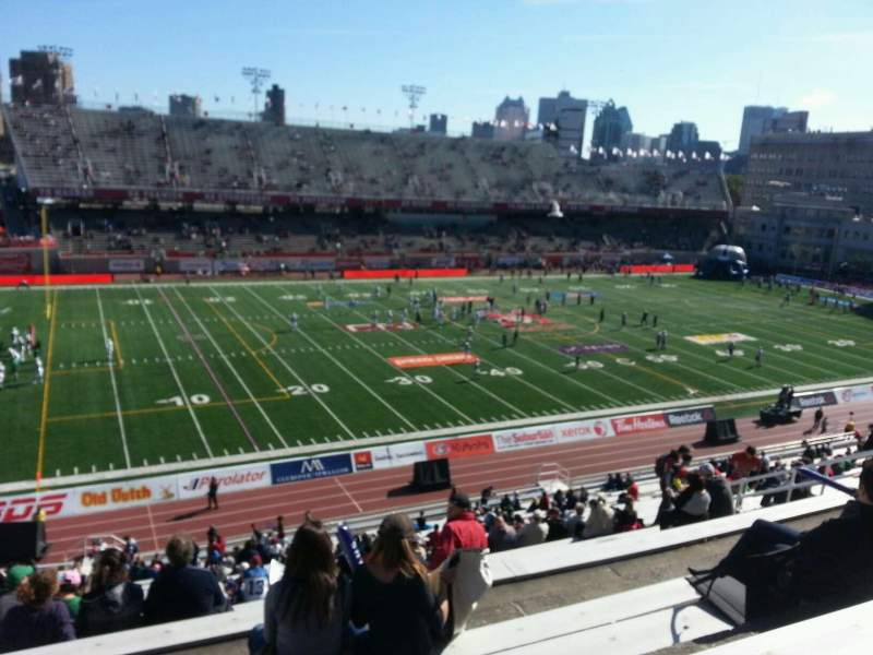 Seating view for Percival Molson Memorial Stadium Section j2 Row 5 Seat 28