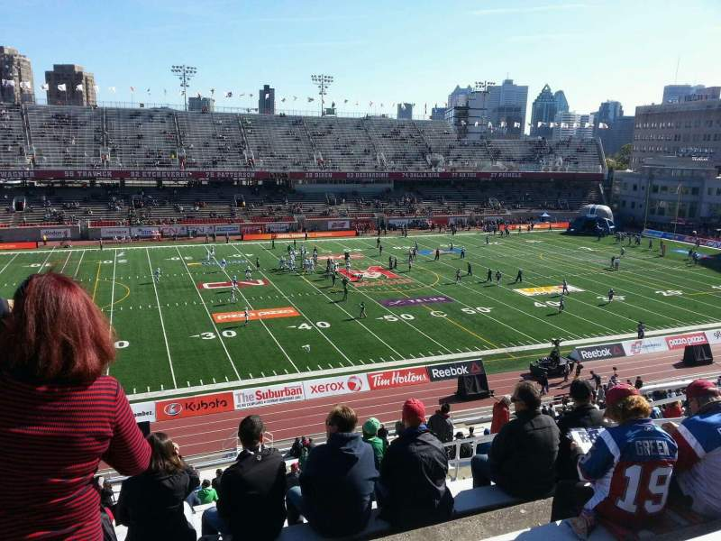 Seating view for Percival Molson Memorial Stadium Section h2 Row 4 Seat 17