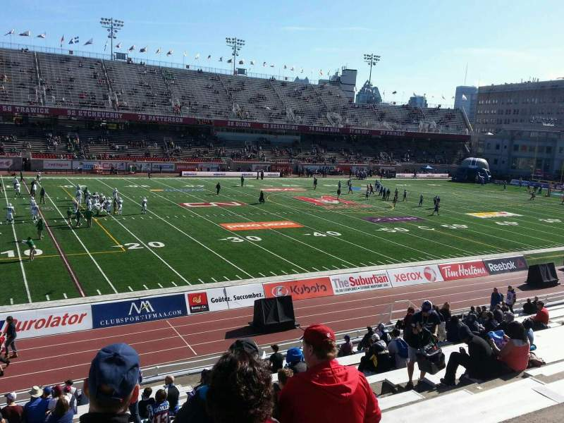 Seating view for Percival Molson Memorial Stadium Section j1 Row 20 Seat 12