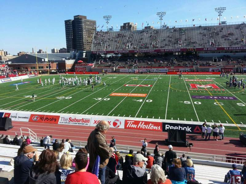 Percival Molson Memorial Stadium, section: g1, row: 18, seat: 18