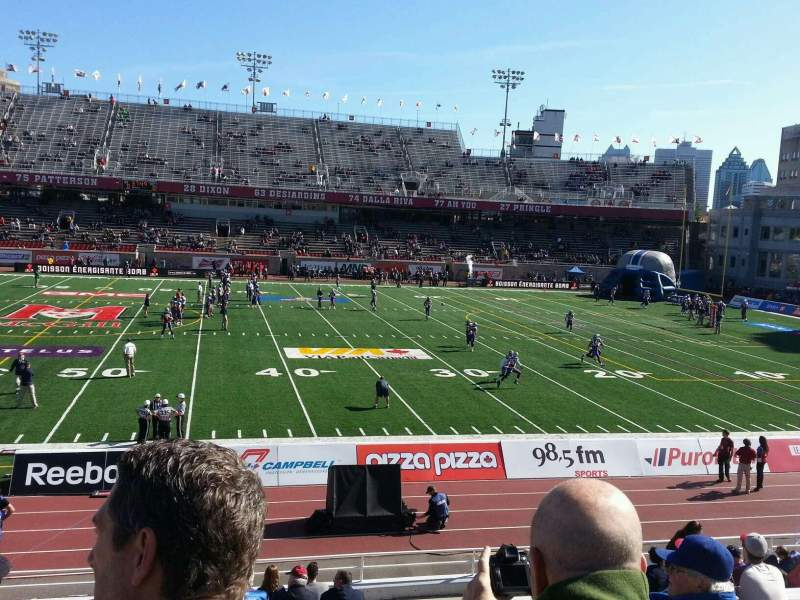 Seating view for Percival Molson Memorial Stadium Section f1 Row 15 Seat 22