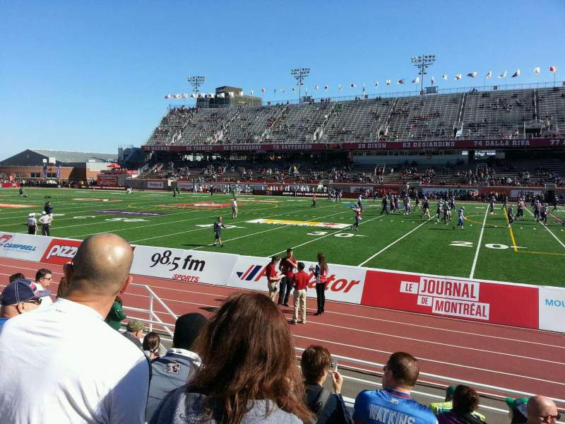 Seating view for Percival Molson Memorial Stadium Section d1 Row 6 Seat 16