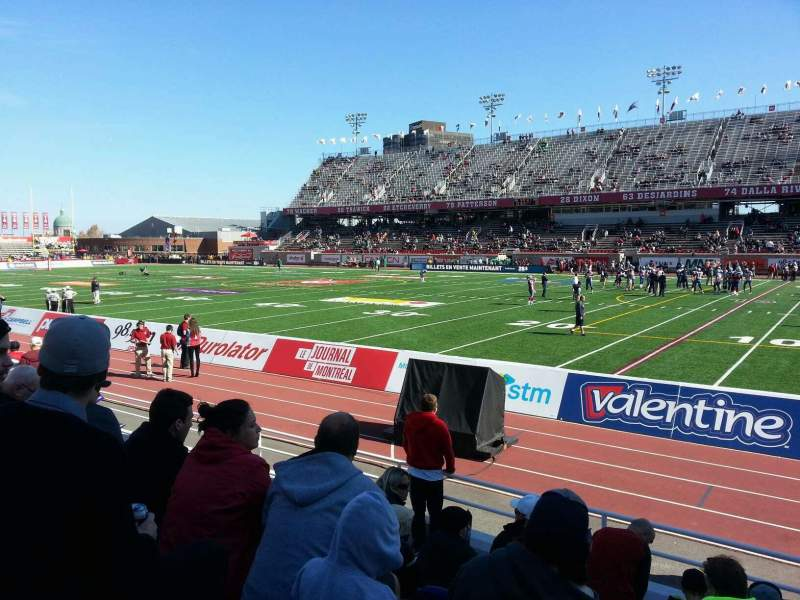 Seating view for Percival Molson Memorial Stadium Section c1 Row 6 Seat 14
