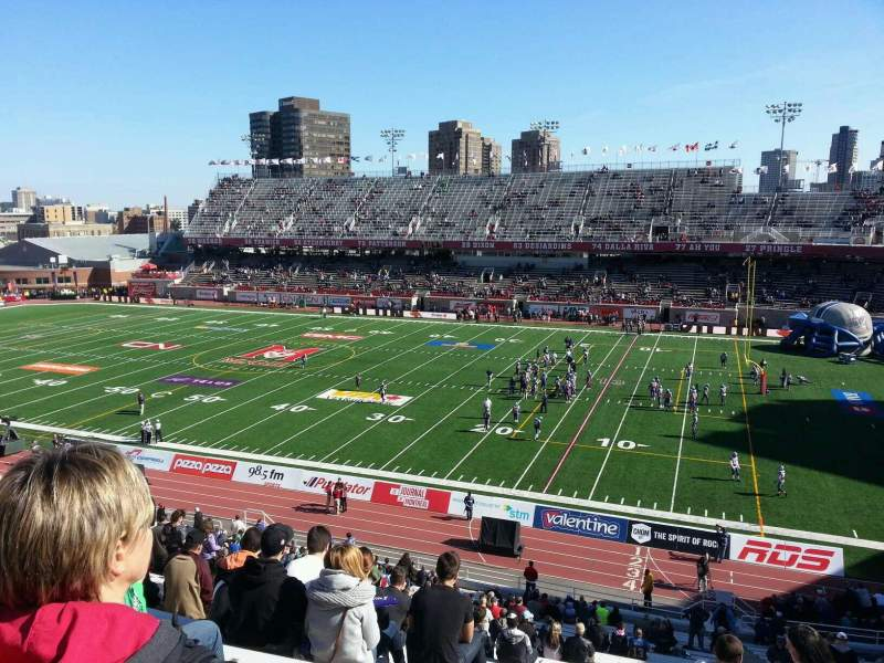 Seating view for Percival Molson Memorial Stadium Section c2 Row 3 Seat 15