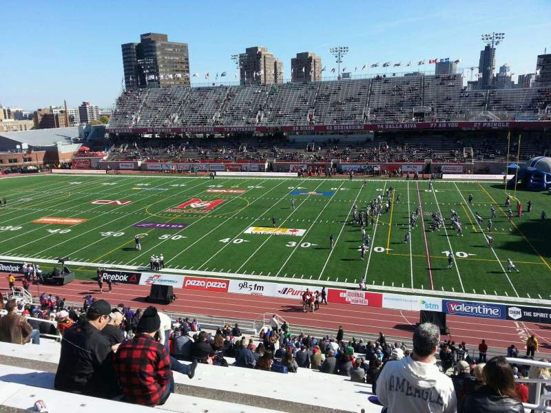 Seating view for Percival Molson Memorial Stadium Section d2 Row 5 Seat 17