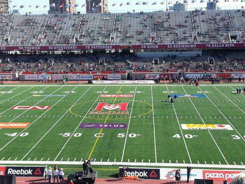 Seating view for Percival Molson Memorial Stadium Section f2 Row 4 Seat 15