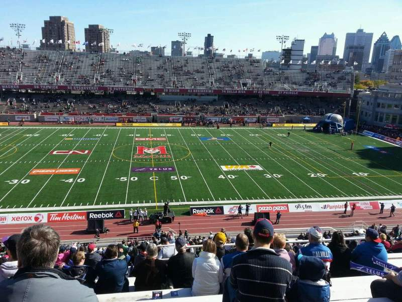 Seating view for Percival Molson Memorial Stadium Section g2 Row 10 Seat 10