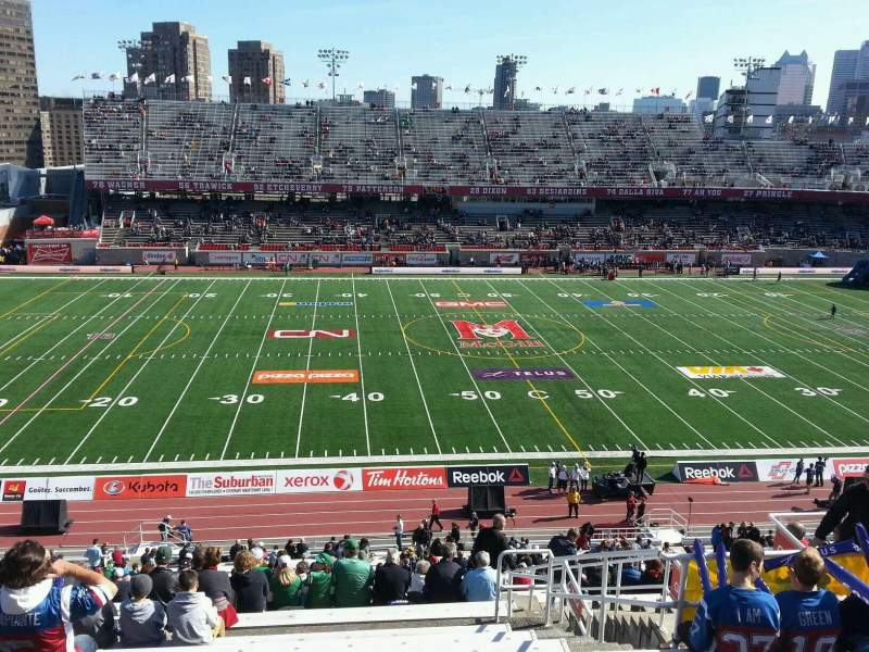 Seating view for Percival Molson Memorial Stadium Section h2 Row 9 Seat 13