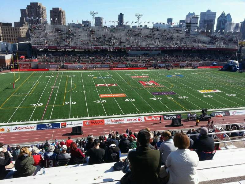 Seating view for Percival Molson Memorial Stadium Section i2 Row 10 Seat 18