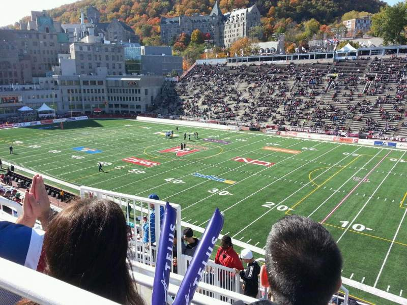 Seating view for Percival Molson Memorial Stadium Section q2 Row 10 Seat 5