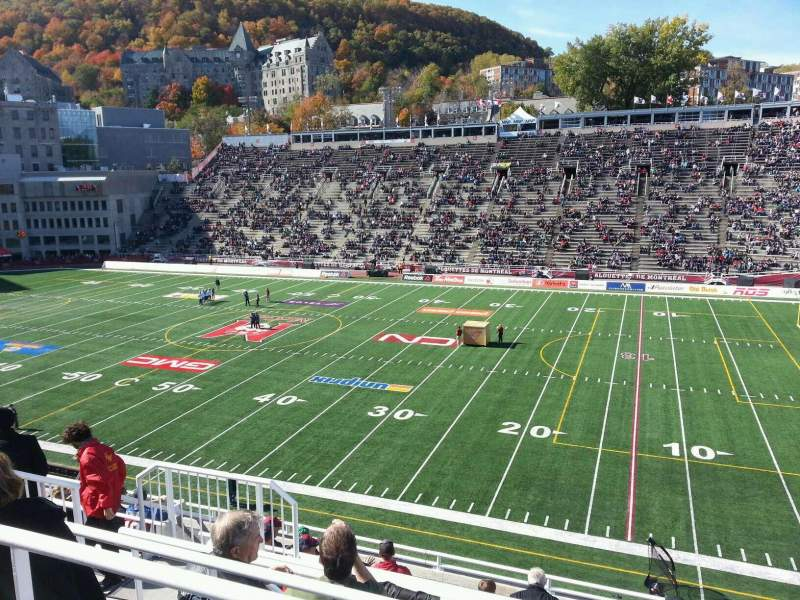 Seating view for Percival Molson Memorial Stadium Section r2 Row 9 Seat 10