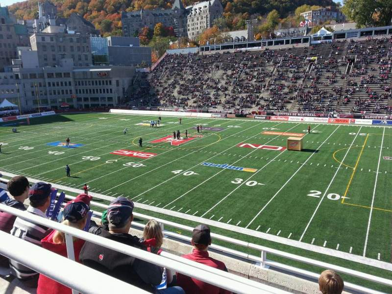 Seating view for Percival Molson Memorial Stadium Section r2 Row 4 Seat 8