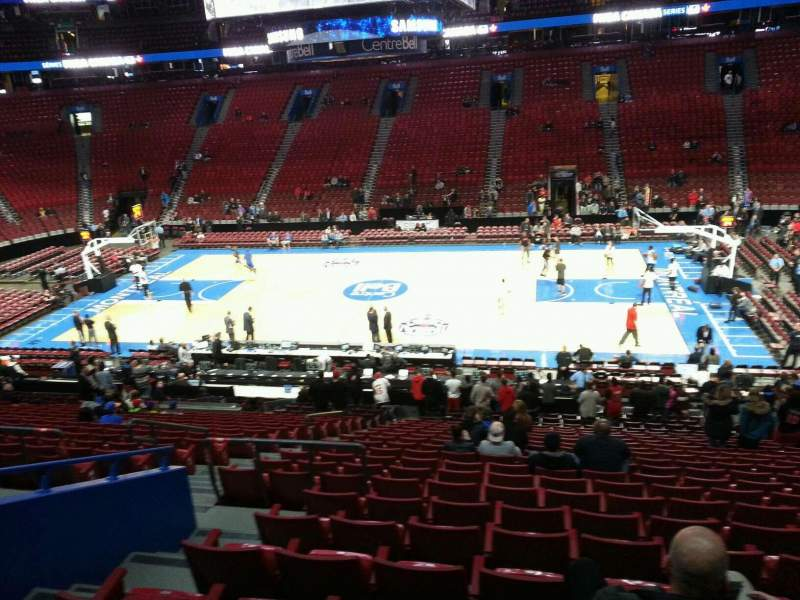 Seating view for Centre Bell Section 124 Row u Seat 8