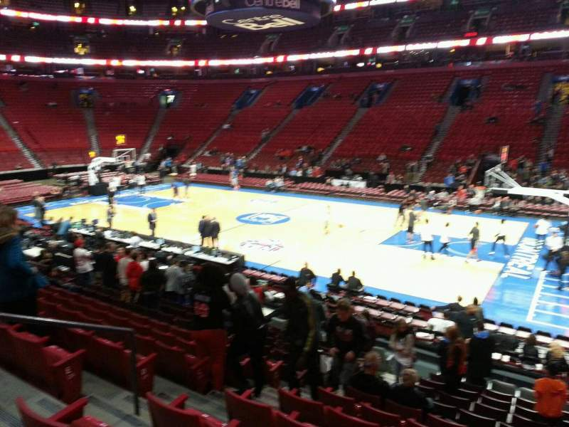 Seating view for Centre Bell Section 123 Row h Seat 12