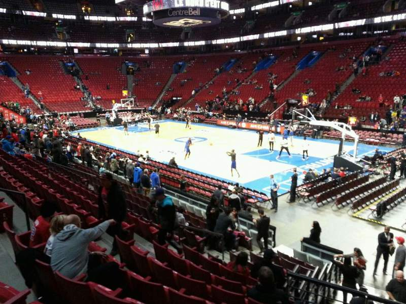 Seating view for Centre Bell Section 110 Row h Seat 9