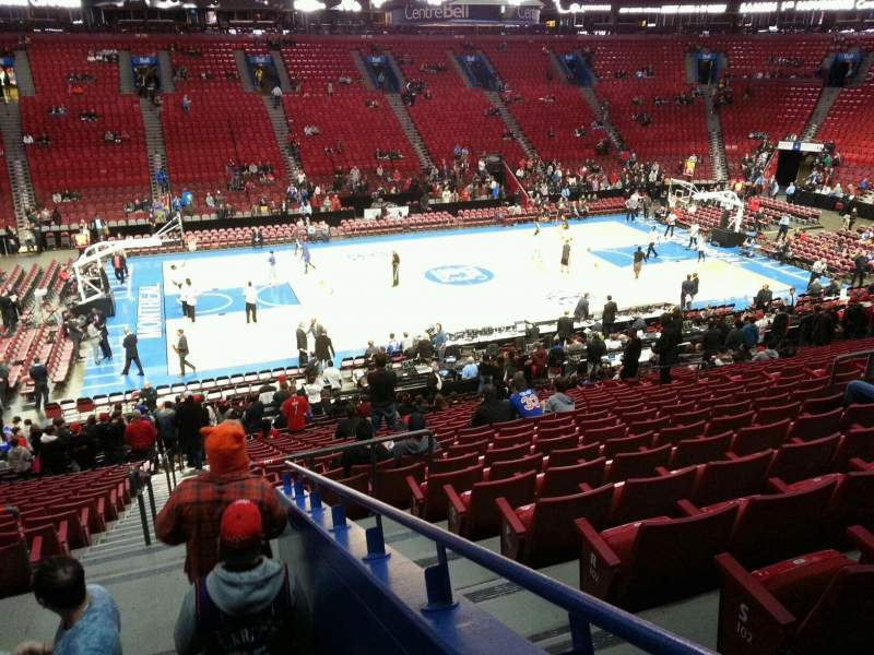 Seating view for Centre Bell Section 102 Row u Seat 13