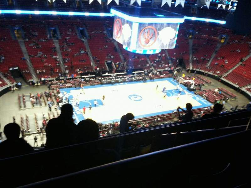 Seating view for Centre Bell Section 322 Row b Seat 4