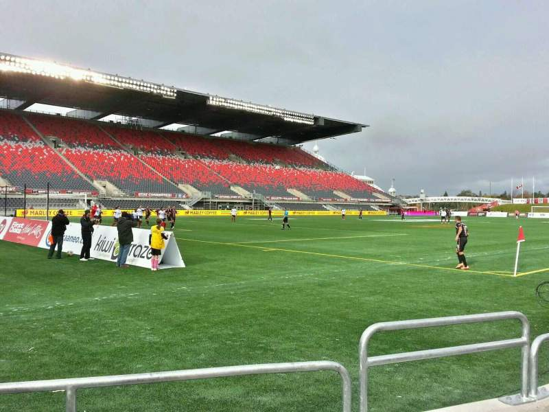 Seating view for TD Place Stadium Section y Row 3 Seat 3