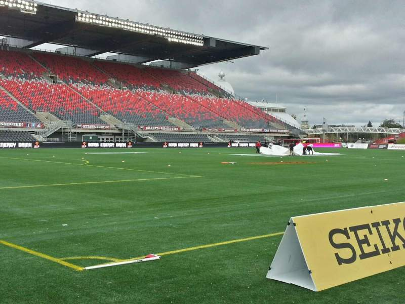 Seating view for TD Place Stadium Section x Row 3 Seat 1