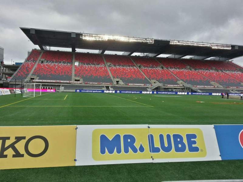 Seating view for TD Place Stadium Section w Row 3 Seat 1
