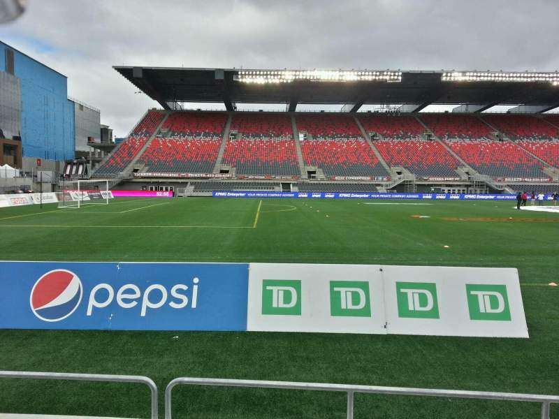 Seating view for TD Place Stadium Section v Row 4 Seat 6