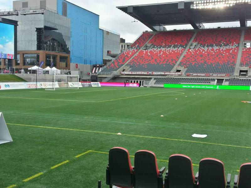 Seating view for TD Place Stadium Section u Row 3 Seat 6