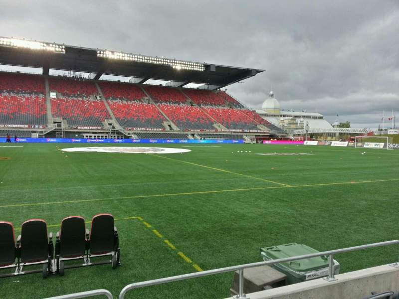 Seating view for TD Place Stadium Section t Row 4 Seat 9